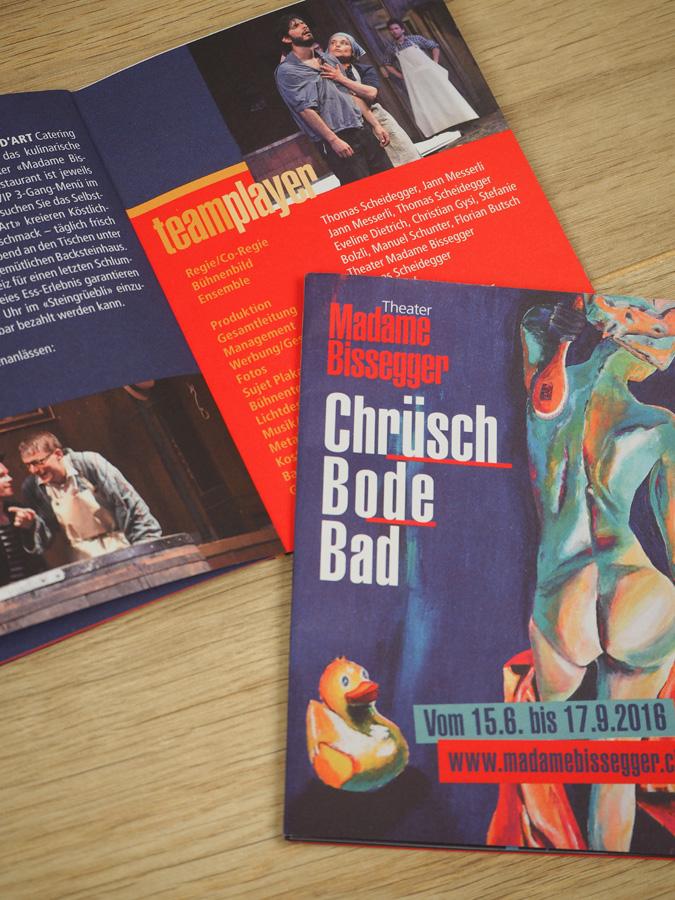 Flyer Madame Bissegger «Chrüsch Boder Bad»