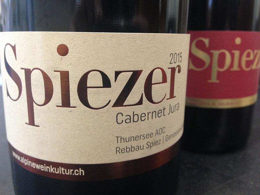 Etiketten Spiezer Alpine Weinkultur