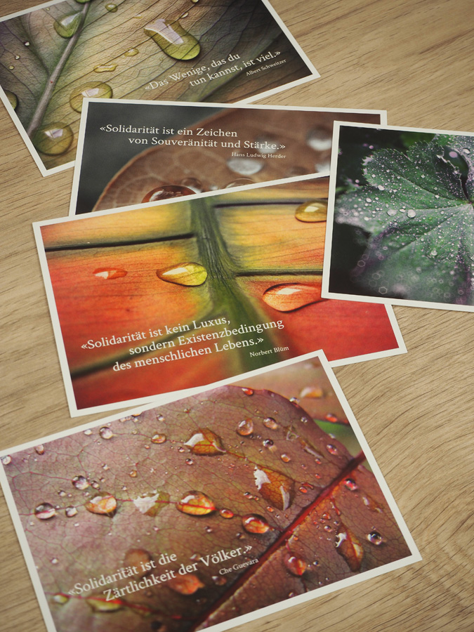 Postkarten-Set Spitex Bern