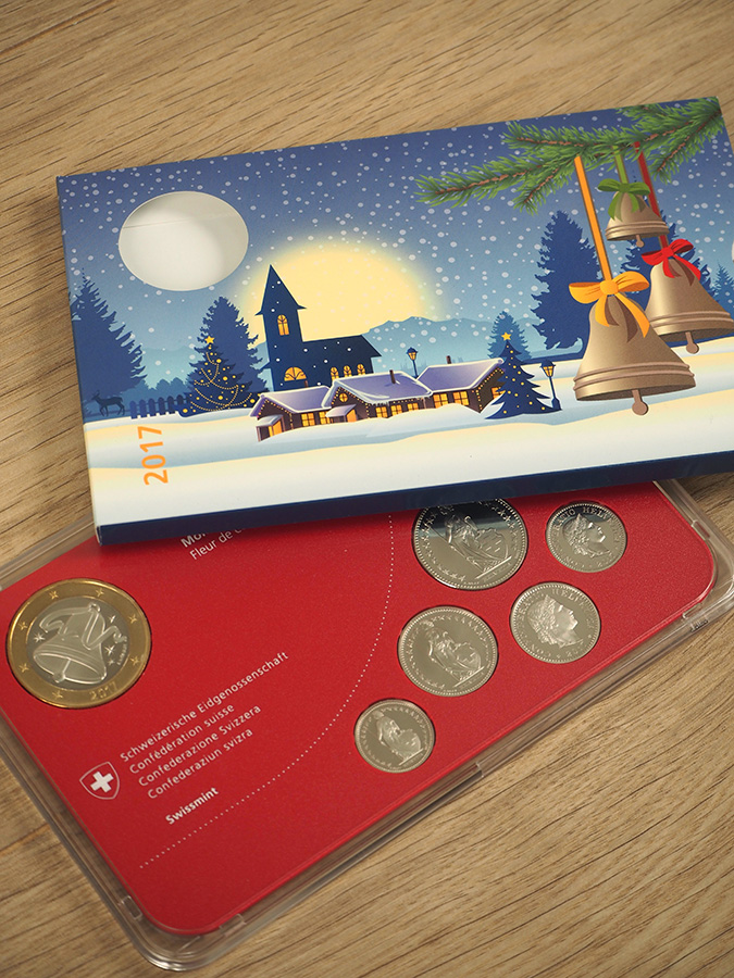 Münze Weihnachten Swissmint mit Verpackung