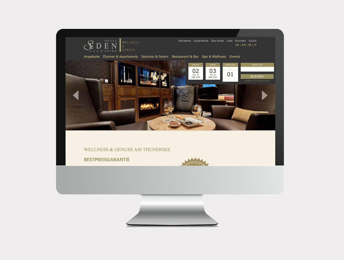Webansicht Hotel Eden Spiez